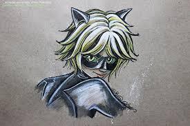 sketch color chat noir fanart ladybug by crisesher on deviantart