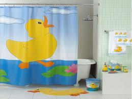 Fun Kids Bathroom - fancy bathroom with shower curtains fun duck theme and fun kids