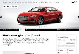 audi a3 configurator 2017 audi a5 coupe configurator available s5 starts at 62 500