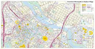 Light Rail Map Minneapolis Minneapolis Downtown Access Map Pdf Digital License Hedberg Group