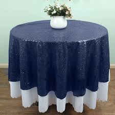 tablecloth for 72 round table 72 round navy blue sequin tablecloths table linens overlays wedding