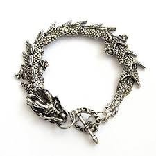 bracelet dragon images Silver tone alloy metal dragon bracelet strand jpg