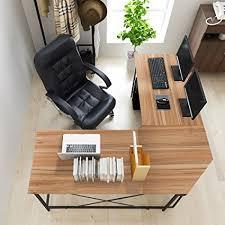 large l desk amazon com soges 59 x 59 large l shaped desk computer desk l