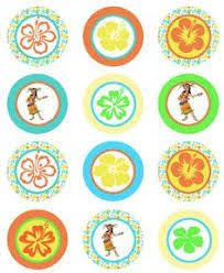 Printable Hawaiian Decorations Party Planning Center Free Printable Hawaiian Luau Cupcake