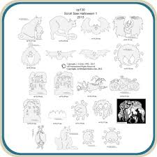 Free Wood Carving Patterns Downloads by Halloween Scroll Saw 1 Patterns U2013 Classic Carving Patterns