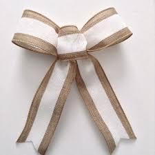 burlap and white bows wedding decorative bows tree