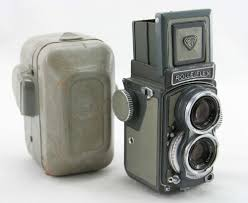 rollei rolleiflex gray baby vintage tlr 4x4 camera lens