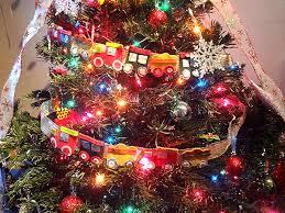 merry christmas our train themed christmas tree working mom u0027s