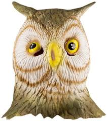 owl mask hms owl realistic animal mask brown one size