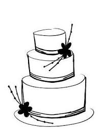 wedding cake outline clip of cake clipart best wedding clip