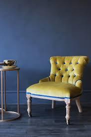Barcelona Style Sofa Vintage Style Little Barcelona Velvet Chair Yellow Statement