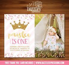 printable thank you cards princess printable pink and gold princess birthday invitation royal first