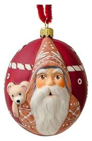 vaillancourt jingle santa with snowman ornament