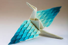 Origami Paper Works - cristian marianciuc creates a new decorated origami paper crane