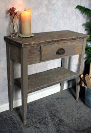 reclaimed wood entry table small entry table gray wood sofa table gray reclaimed wood