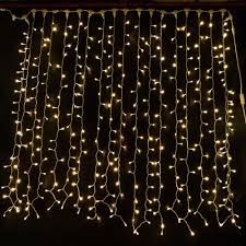 curtain lights warm white 2m x 1 5m connectable led curtain light s 01 75