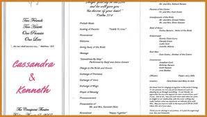 Examples Of Wedding Ceremony Programs Wedding Ceremony Program Notary Letter