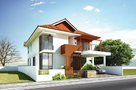 Glamorous Modern House Exterior Front Designs Ideas With Balcony - Exterior modern home design