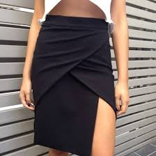 Draped Skirts Shirt Clothes Clothes Skirt Black Wrap Tight High