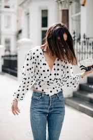 sheer polka dot blouse white blouse decoration