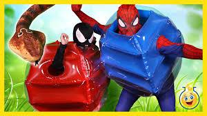 spiderman vs snake u0026 venom in fun real life superhero movie w