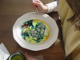 the wonder years color mixing milk food coloring and soap