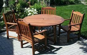 Round Patio Furniture Set by Wood Patio Furniture Set U2013 Bangkokbest Net