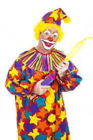 clown balloon l clown blows up balloon stock photo lisafx 677926