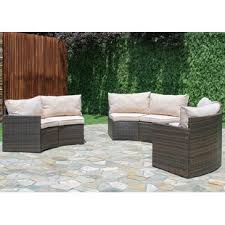 Curved Patio Sofa Modern Contemporary Curved Outdoor Sofa Allmodern