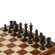 unusual chess sets alexander knight ebony chess set by uber games