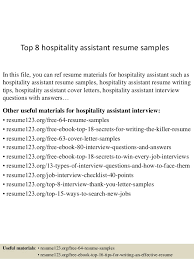 Hospitality Resume Examples by Top 8 Hospitality Assistant Resume Samples 1 638 Jpg Cb U003d1431742717