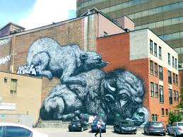mural hunting montreal the514lifeblog a wall made by turtle caps on duluth another street with tons of street art