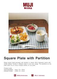 this square plate porcelain is muji classic tableware with