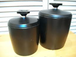 funky kitchen canisters kitchen stainless steel flour canister black ceramic kitchen