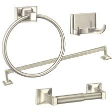 amazing preston 3 piece bathroom accessory set chrome rona at moen