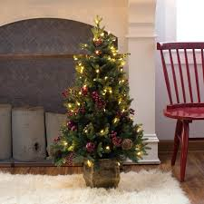 4 foot pre lit tree ft white 4ft artificial sale canada