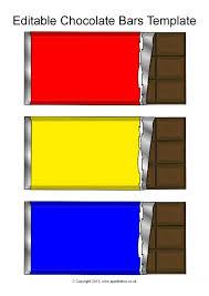 editable chocolate bar templates sb9996 sparklebox