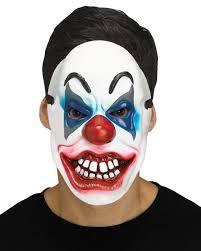 crazy clown half mask for halloween horror shop com