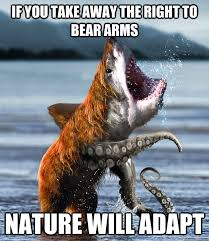 Right To Bear Arms Meme - if you take away the right to bear arms nature will adapt