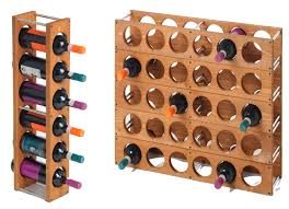 wood wine rack diy simple design single column doesnt look