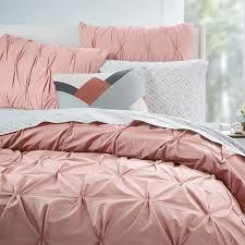 light pink down comforter satin weave cotton pure color light pink duvet cover set sufey