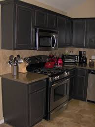 Black Paint For Kitchen Cabinets Black Painted Kitchen Cabinets Free Home Decor
