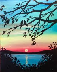 painting for best 25 sunset paintings ideas on sunset sunset