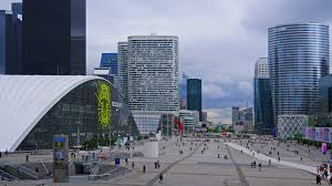 modern buildings france paris modern buildings in business district defence time
