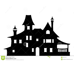 House Silhouette by Black Silhouette Of A Victorian House Vector Illustration Stock