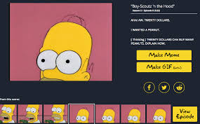 Make Meme Text - a simpsons search engine frinkiac now allows you to make gifs too