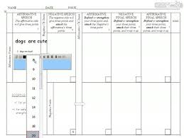 Flow Sheet Template How To Fill Out A Debate Flow Chart Challenge Class For