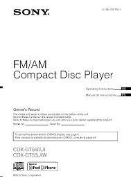 descargar manual de usuario de sony cdx gt550ui