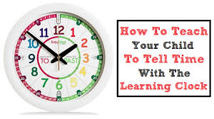 time learning clock how to teach your child to tell the time with the learning clock
