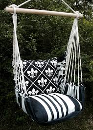 black u0026 white fleur de lis hammock swing chair u2013 garden fun